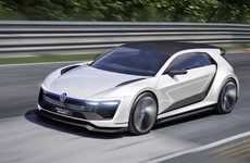 Powerful Hybrid Vehicles - Volkswagen's Golf GTE Sport Boasts Gullwing Doors and 395 Horsepower