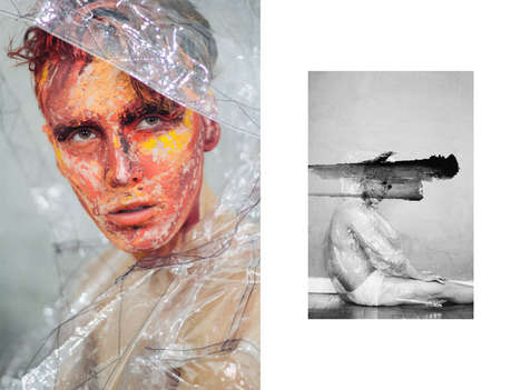Experimental Art School Editorials - This Face Paint Photography Feature Boasts Conceptual Styles