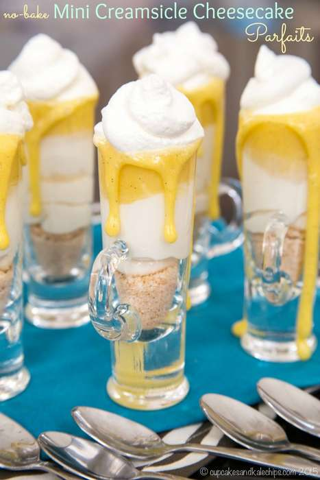 No-Bake Creamsicle Parfaits