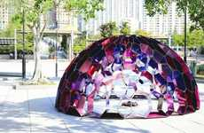 Kaleidoscopic Dome Sculptures