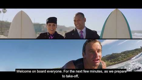 Adventurous In-Flight Safety Videos - Air New Zealand Embraces Its Surfing Culture for Passengers