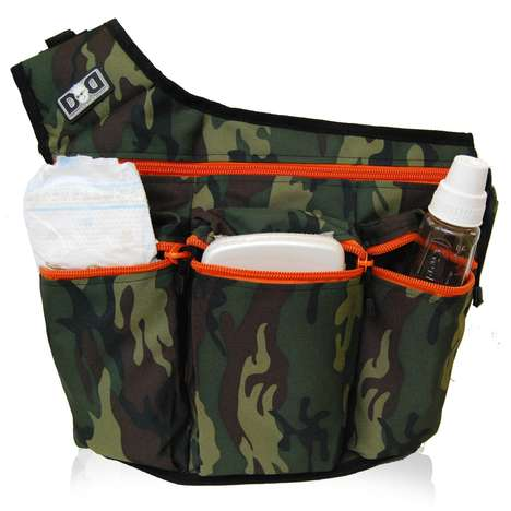 Manly Diaper Bags - This Diaper Dude Messenger Boasts a Camo-Printed Exterior