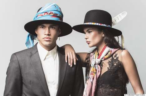 Feminine Aboriginal Fashions - Bethany Yellowtail's New Line Draws on Her Native American Roots