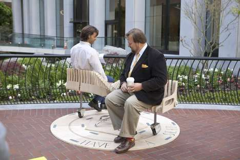 Playful Public Seating - This Interaction-Encouraging Public Bench is Inspired by a Merry-Go-Round