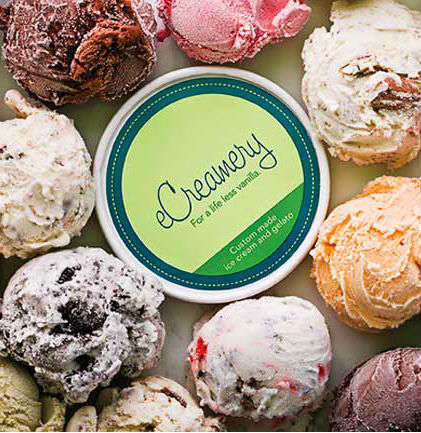 Custom Ice Cream - eCreamery Lets People Create Their Own Unique Flavors