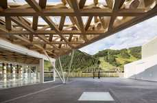 Transparent Mountainside Museums