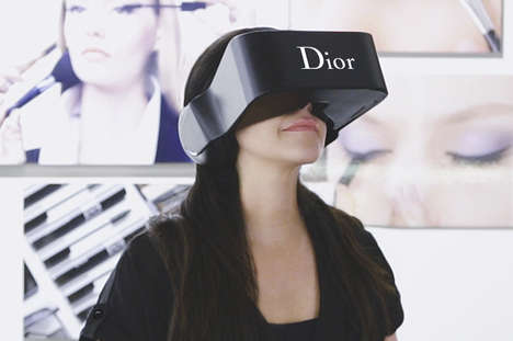 Couture VR Experiences - Dior Eyes is a Branded Virtual Reality Headset for Interacting with Clients
