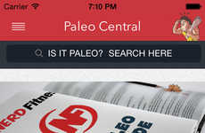 High-Protein Diet Apps - Paleo Central Helps People Stick to a Caveman Diet