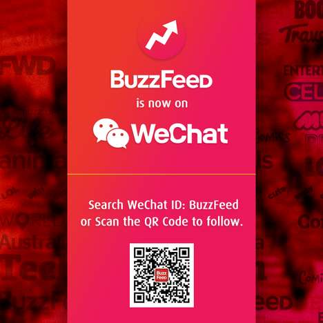 Curated App News Channels - The Buzzfeed x WeChat Partnership Sees News Content Added to the Service