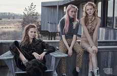 Retro Retreat Editorials - The Vogue Australia Young Guns Photoshoot Shows Old School Looks