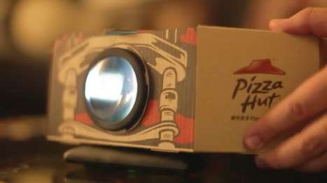 Pizza Box Projectors - Pizza Hut Creates Dual-Purpose Packaging That Marries Food and Entertainment