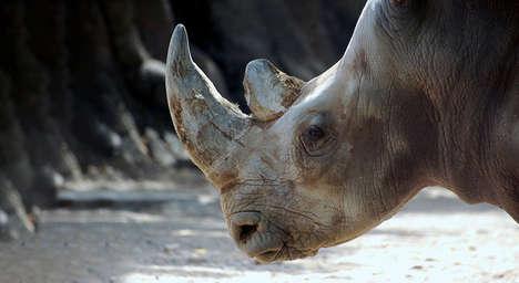 3D Printed Rhino Horns