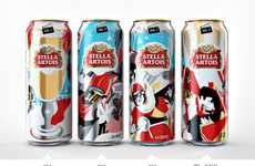 Cinematic Beer Packaging - These Limited Edition Stella Artois Cans Show a Movie-Like Storyboard