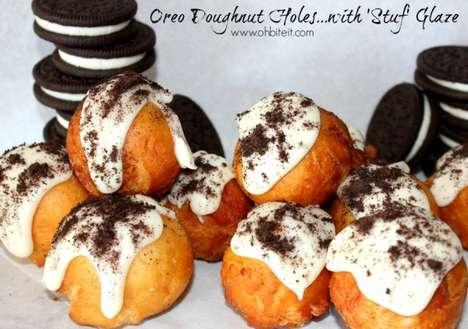 Cookie-Stuffed Donut Holes
