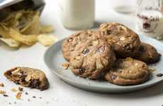 Potato Chip Desserts - These Chocolate Potato Chip Cookies are a Salty and Sweet Hybrid Treat