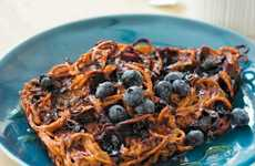 Sweet Potato Waffles - These Blueberry Sweet Potato Waffles Make Clean Eating Easy