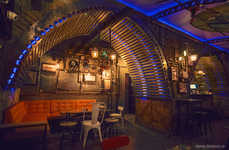 Steampunk Submarine Pubs - 6th-Sense's Bar Interior Design Creates the Feeling of Being Undersea