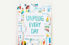 Unplugging Daily Diaries - The Folk Rebellion Hardcover Journal has 365 Tips to Tech Disconnect