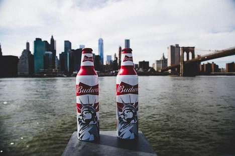 Patriotic Beer Labels - Red, White & Blue Budweiser Labels Aim to Protect National Parks