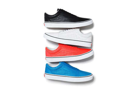 Slick Skater Shoes - The Supreme x Vans Old Skool Collection Sizes Up The Skate Shoe