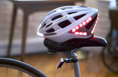 Signaling Bicycle Helmets - Lumos is a Smart Bicycle Helmet that Improves Road Communication