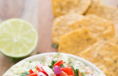 Greek Yogurt Guacamole - This Healthy Dip Recipe Blends Mediterranean and Mexican Flavors
