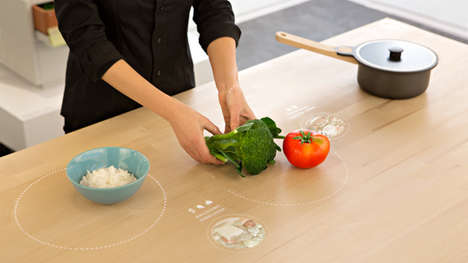 Digital Cooking Tables - The New Concept Table from IKEA Will Suggest Recipes Based on Leftovers