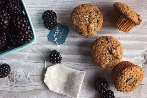 Tea-Infused Blackberry Muffins