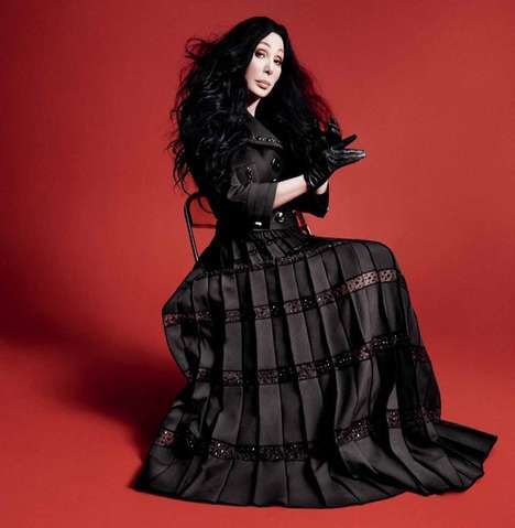 Theatrical Diva Campaigns - The Cher Marc Jacobs Advertorial is Iconic and Elegantly Dressed