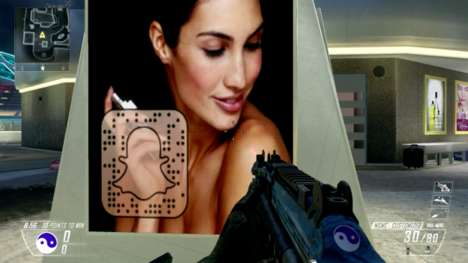 Secretive Gaming Campaigns - This Call of Duty Video Game Advertising Stunt Covertly Uses Snapchat