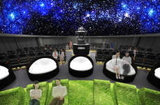 Mock Outdoor Planetariums - The Konica Minolta Planetarium Will Feature Faux Grass & Cloud Seats