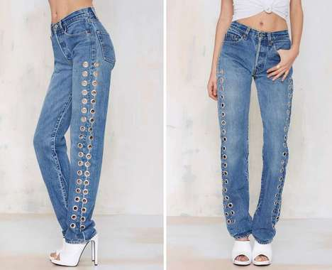Vintage Grommet Jeans