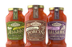 Italy-Inspired Sauce Labels - Spring Design Partners Designed Sauce Labels to Mimic Italian Tones