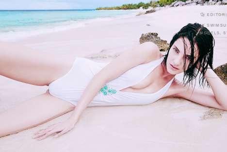 White Swimsuit Editorials