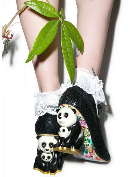 Panda-Heeled Pumps