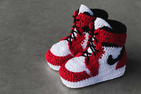Crocheted Baby Sneakers - These Picasso Babe Crocheted Sneakers Pave the Way for Mini Sneakerheads