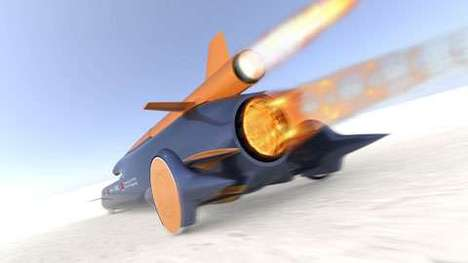 1,000-MPH Cars - Bloodhound SSC is Faster Than a Speeding Bullet