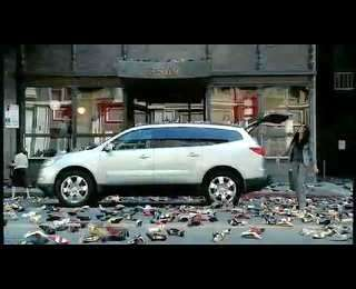 Using Shoes to Sell Cars - Chevy Traverse Ad Exploits Compulsive Shoppers