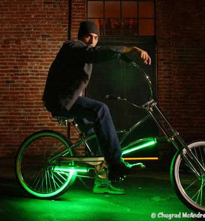 Neon Flood Lights For Bicycles