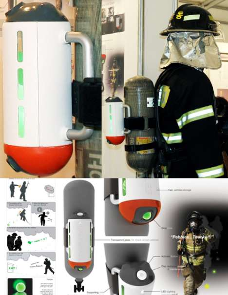 Fluorescent Pebbles - The Life Pebble Innovation for Firefighters