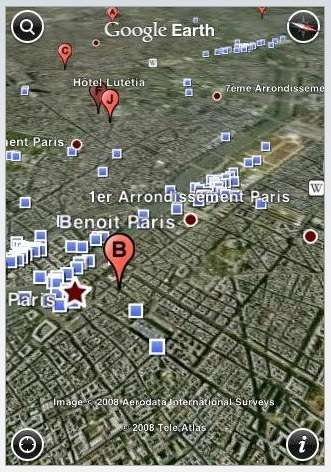 Mobile Interactive Maps - Google Earth for iPhone