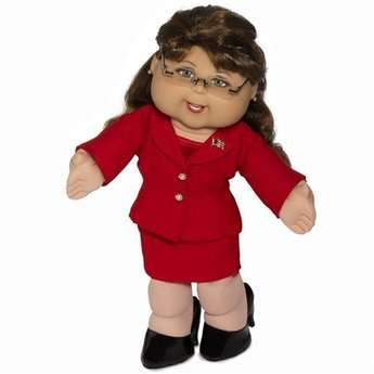 Political dolls for charity: obama and sarah palin cabbage patch dolls.