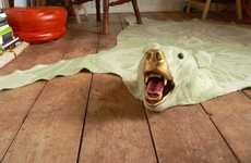 Faux Animal Skin Rugs - Vintage Dutch Blanket Polar Bear Carpets