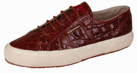 Crocodile Skin Sneakers