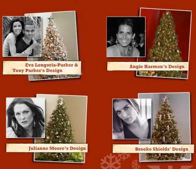 Celebrity-Designed Christmas Trees