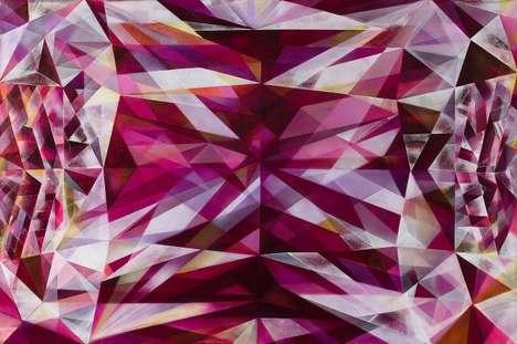 Crystallized Kaleidoscope Paintings
