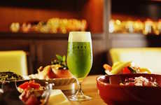Green Tea Beer - Japan's Green Tea Restaurant 1899 Ochanomizu Serves Matcha Green Beer