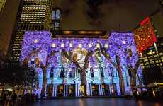 Light Projection Facades - Vivid Sydney Festival Illuminates Urban Structures with Whimsical Imagery