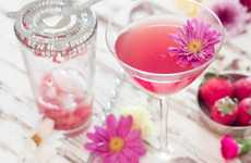 Floral Wine Cocktails - This Yummy Wine Cocktail Uses Strawberry and Jasmine