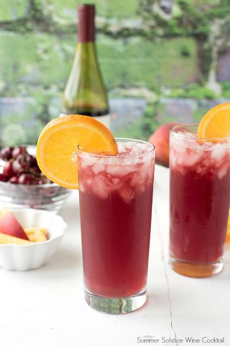 Summer Solstice Wine Cocktails